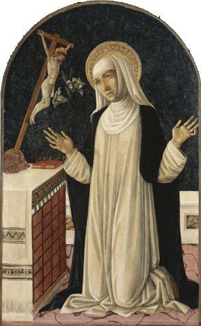 Sainte Catherine de Sienne recevant les stigmates du Crucifix (Matteo di Giovanni di Bartolo, vers 1430 - 1495),  Musée du Petit Palais…