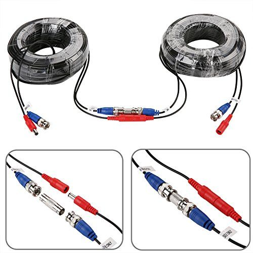 Sannce 4 Pack 100ft Bnc Video And Power Security Camera Cable With Bnc Connectors And Rca Adapters For Cctv Camera System Black Best Offer Re Dizajn Veb Sajtov