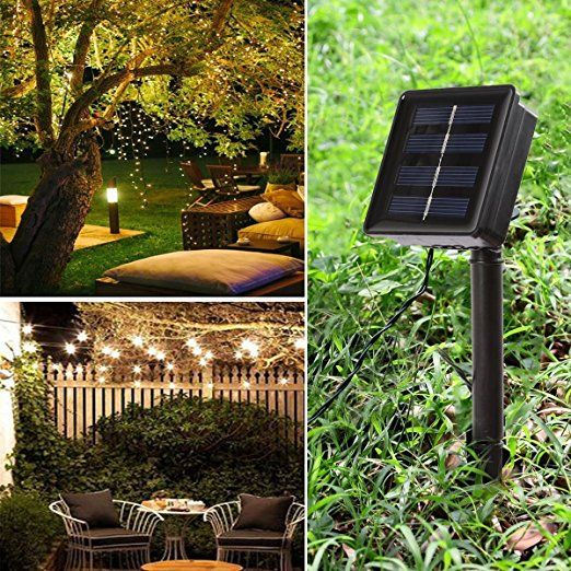 B Right 22m 200 Leds Kupfer Lichterkette Wasserdicht Ip44 Warmweiss Led Solar Lichterkette Led Solarli Solar Licht Weihnachtsbeleuchtung Solar Lichterkette