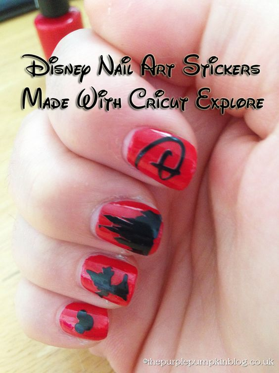 Disney Nail Art DaysOfDisney Disney Nail Decals And Front Doors - How to make vinyl nail decals with cricut