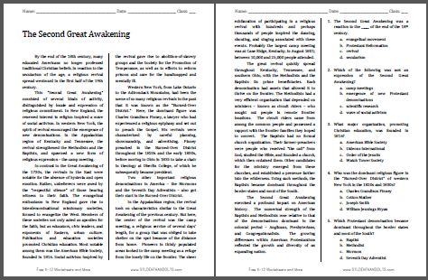 second great awakening 2 essay Read this essay on great awakening an analysis of the second great awakenings reveals that there is a link between the evangelical spirit and the reforming.