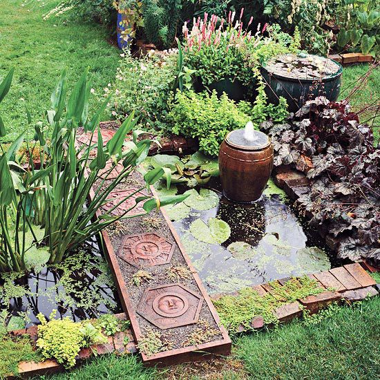 Simple Water Features For The Garden: Gardens, The Plastics And Pond Ideas On Pinterest