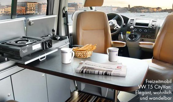Reimo recreational vehicle CityVan on Volkswagen Transporter 5 - cozy, elegant and convertible
