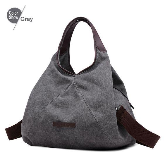 RoyaDong 2016 Women Bag Canvas Tote Causal Shoulder Bag Vintage Crossbody Bag