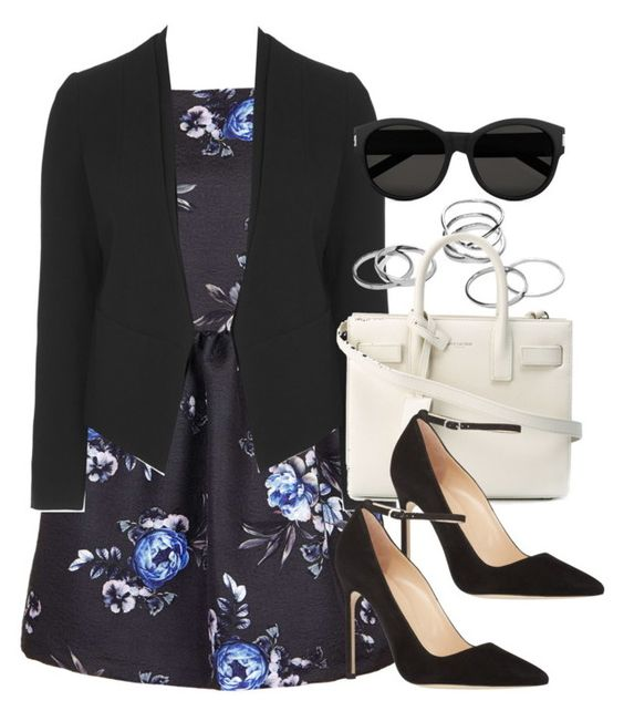 """""""Style #9376"""" by vany-alvarado ❤ liked on Polyvore featuring Topshop, Yves Saint Laurent and Manolo Blahnik"""