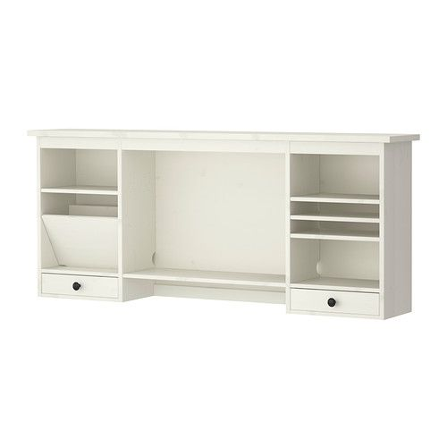 HEMNES Add on unit for desk, white stain Stains, Middle and Built ins
