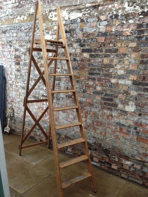 wooden ladders ladder and a frame on pinterest