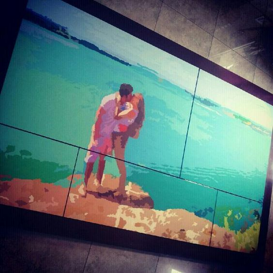 Couple in love <3 Biggest painting I've ever made
