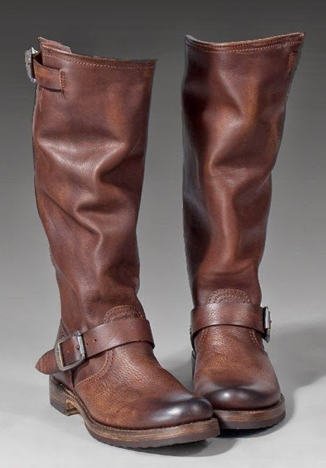 Frye Brown Long Leather Boots   Stepping Out   Pinterest   Classic