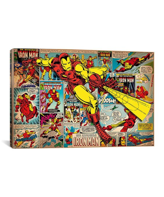 This Iron Man Covers & Panels Gallery-Wrapped Canvas by iCanvas is perfect! #zulilyfinds