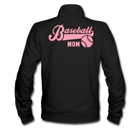 Baseball MOM Unisex Track Jacket by American Apparel Urban Fleece Track Jacket for Men and Women, 100% cotton, Brand: American Apparel