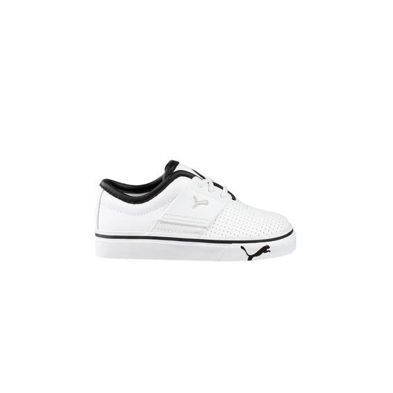 Toddler Puma El Ace Athletic Shoe - White/Black   From Journeys Kids