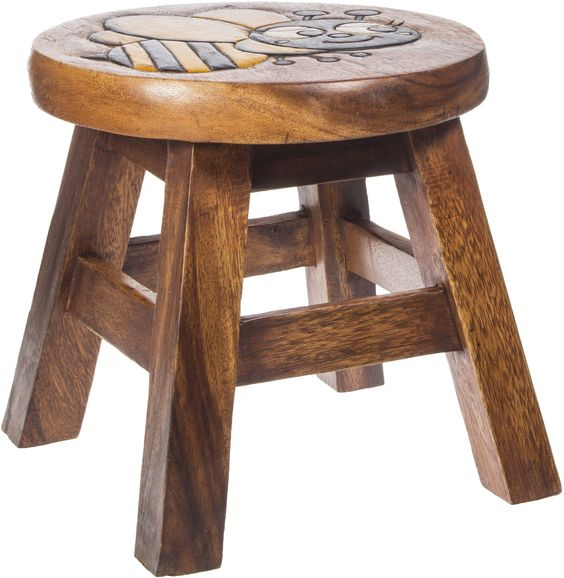 This rugged wood stool is great in so many areas of the house. It is made of…