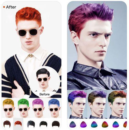 Hair Style Salon Color Changer تطبيق خرافي يقوم بقص الشعر للايفون Hair Styles Hair Style