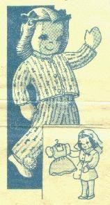 Free 1940's cloth doll pattern