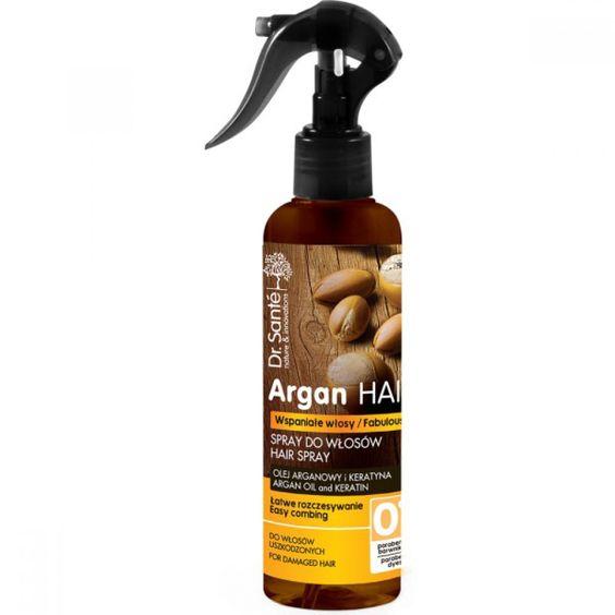 Spruzzare i capelli con olio di argan e cheratina da ingrosso e import