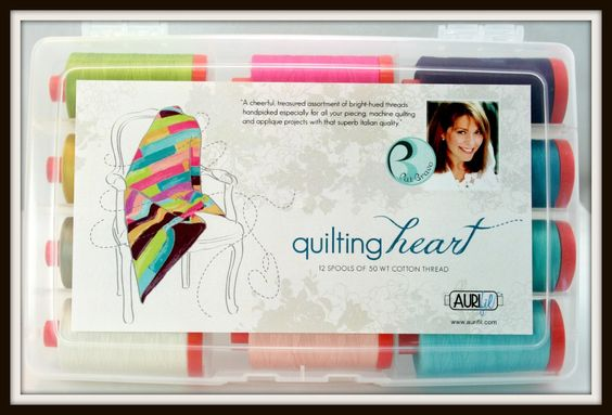 Quilting-Heart @Aurifil thread collection by @Pat Bravo #ArtGalleryFabrics #Fabric #WeAreFabrics #sew #stitch #DIY #makeityourself #creative #create