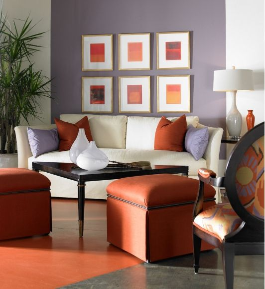 Renovated living rooms home and garden design idea 39 s for Grey and orange living room ideas