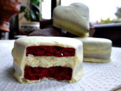 Almond and Honey: Red Velvet Shortbread Sandwich Heart Cookies ...
