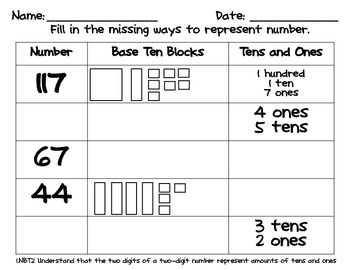Base Ten Blocks Worksheets | Weekly To Do List Organization ...