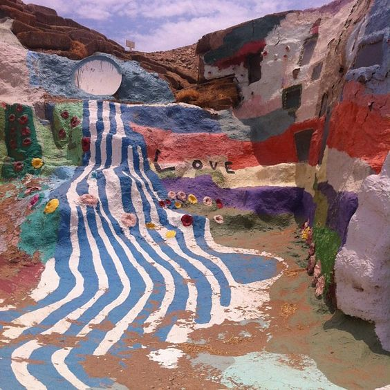 Salvation Mountain in Niland, CA