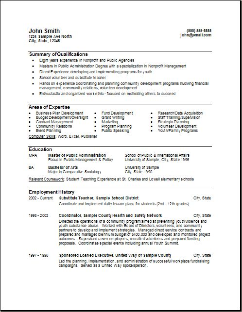Government Resume Format - http://www.resumecareer.info/government ...