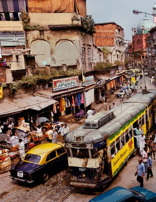 Delhi, India - I chose this image because of it's complexity and representation of India, I like in particular the amount of colour captured in one image alone and the aray of transportation.