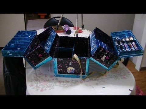 maletin de maquillaje con material reciclado - YouTube