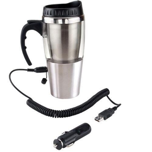 TERMO HEAT CON USB COLOR  (Doble pared. Fuente corriente, adaptador para automóvil y USB, mantiene la temperatura de las bebidas, no calienta. Incluye válvula de seguridad.)  INFORMACIÓN BASICA CATEGORÍA:TERMO METALICO MATERIAL:Acero Inoxidable / Plástico TAMAÑO:8.7 x 19.9 cm COLORES:A/R/T CAPACIDAD:350 ml INFORMACIÓN DE IMPRESIÓN TÉCNICA:Serigrafía / Tampografía AREA:5.2 x 5.2 cm  ¿Te gusta? Solicítalo al (01-999)9261006