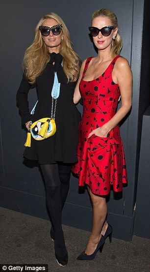 Sister, sister: As soon as the Carolina Herrera show ended, Nicky went to meet…