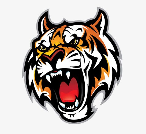Cartoon Tiger Mouth Cartoon Tiger Ferocious Animal Heads Png And Vector With Transparent Background For Free Download Cartoon Tiger Tiger Art Logo Design Art