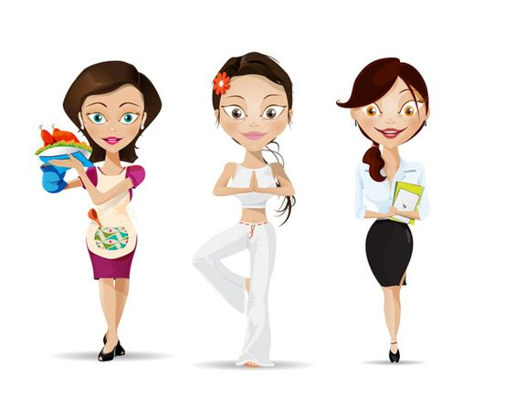Vector woman characters are always needed for various projects. You know that using vector characters is a sure way to animate your project and make it welcome and friendly. And with that great amount of vector woman characters in your hands, you are loaded with graphics for any project. We've got vector woman for business, sport, spa, travel, medicine and technology. Be sure that your clients, friends and partners will love our set!