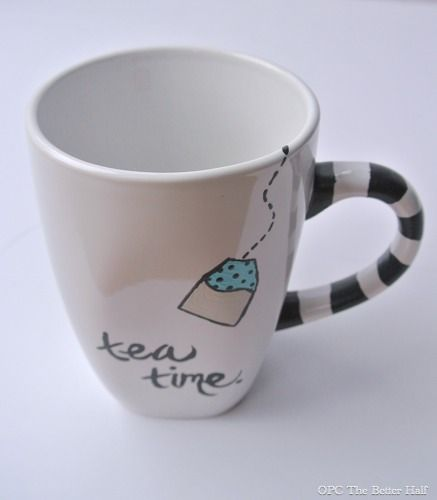 Christmas gift ideas mug designs and martha stewart - Ceramic mug painting ideas ...