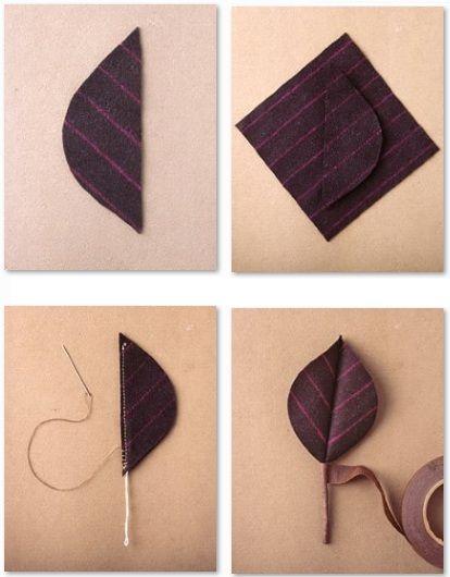 Hojas de tela paso a paso bisuteria pinterest diy y - Manualidades en tela paso a paso ...