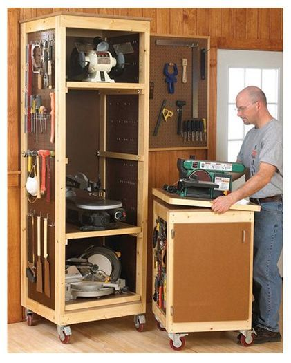 woodshop storage ideas - Google Search