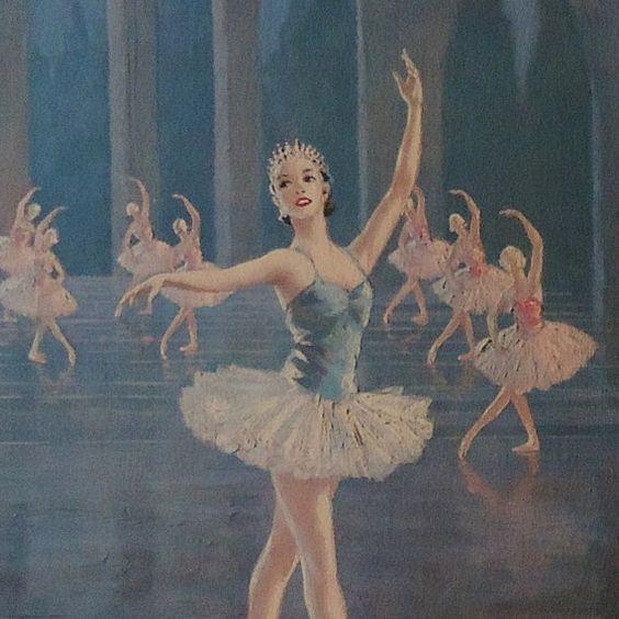 2 Vintage Framed Ballerina Lithograph Prints August Albo