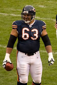 Born 1979 in Rio Hondo, TX, Roberto Garza is the center/guard for NFL's Chicago Bears and was named the 2012 All-Joe Team (w/ teammate Henry Melton).
