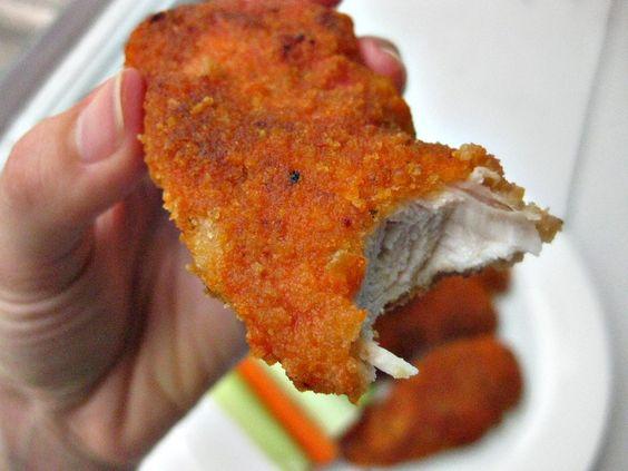 Baked Crispy Buffalo Chicken: Chicken Recipe, Breaded Chicken Breast Recipe, Baked Buffalo Chicken Breast, Crispy Chicken Breast, Chicken Breast Tenderloin, Buffalo Chicken Strip, Buffalo Chicken Tender, Food Drink