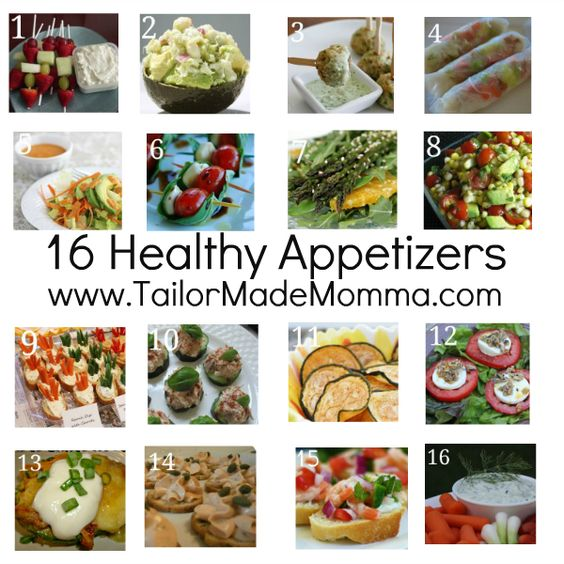 16 Healthy Appetizers yummy!!