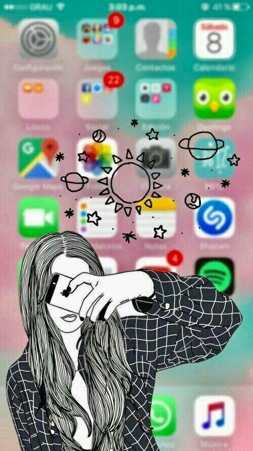 Iphone Fond Ecran Selfie En 2019 Fond D Ecran Telephone
