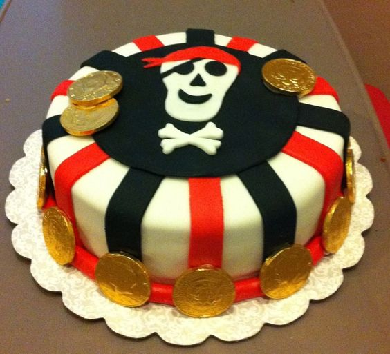 Something like this? But no fondant or gold coins.