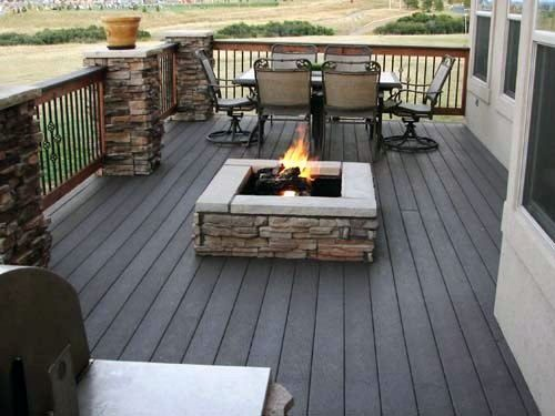 Top 50 Best Deck Fire Pit Ideas Wood Safe Designs Backyard Fire Fire Pit Backyard Outdoor Fire Pit