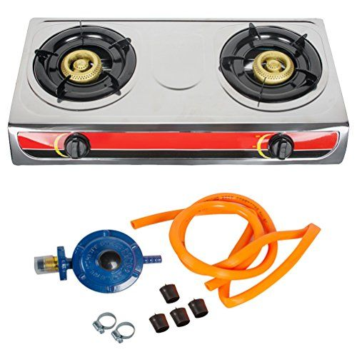 Funwill Portable Propane Two Burner Gas Stove Camping Kitchen Cooker Hob With Hose Regulator Shipping From Usa For Mo Kitchen Cooker Cooker Hobs Gas Stove