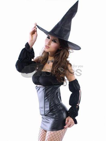Acrylique pvc bustier sorcière halloween costume