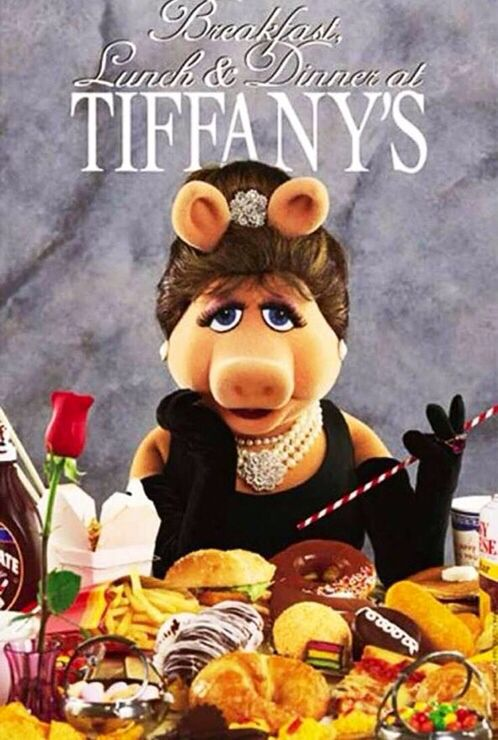 Miss Piggy breakfast at Tiffany's funny