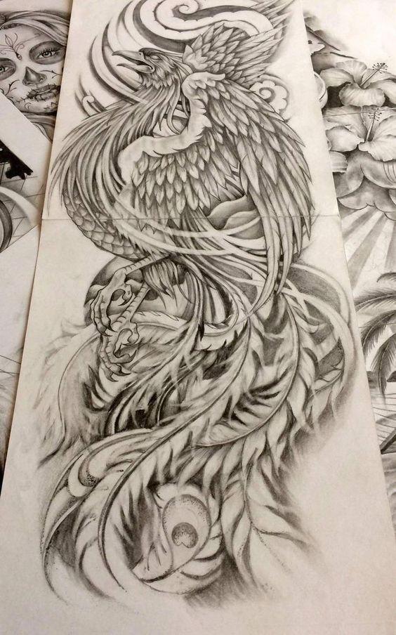 Borneo Tattoos Phoenix Japanese Tattoo Phoenix Japanese Tattoo Japanese Tat In 2020 Tattoo Design Drawings Phoenix Tattoo Japanese Tattoo