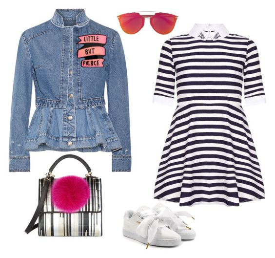 """""""Untitled #1286"""" by louneia ❤ liked on Polyvore featuring Alexander McQueen, Puma and Les Petits Joueurs"""