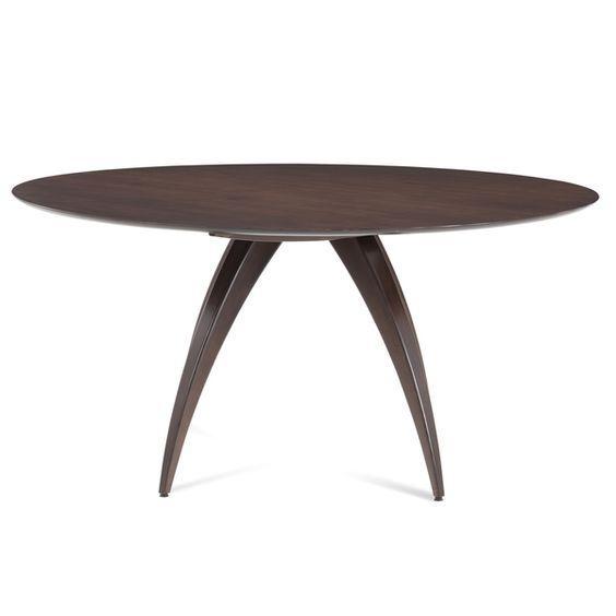 Ella Maple Java Finish 60-inch Round Dining Table