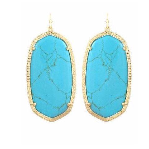 Kendra Scott Elle Earrings - Turquoise Gold