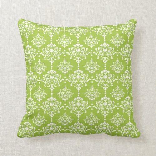 Cojín Patrón De Damasco Vintage Verde Lima Y Blanco Decoración De Pastel De Cojín De Tiro De Patrón De D In 2020 Patterned Throw Pillows Throw Pillows Damask Pattern